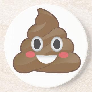 Pile of Poop Happy Emoji Coaster