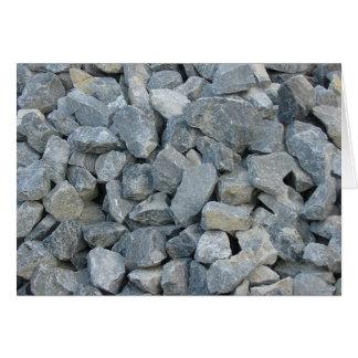 Pile of rocks card