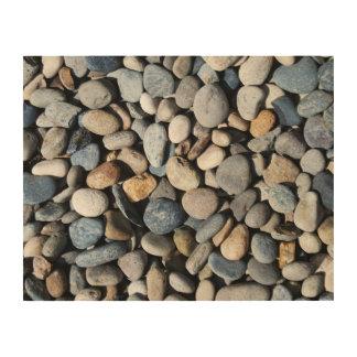 Pile of Rocks Wood Prints