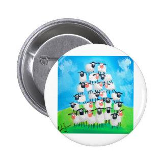 Pile of sheep 6 cm round badge