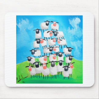 Pile of sheep mouse pad