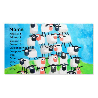Pile of sheep pack of standard business cards