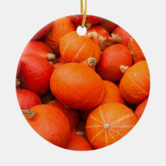 Pile of small pumpkins, Germany Ceramic Ornament