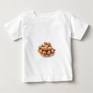 Pile of sugared oliebollen or fried fritters baby T-Shirt