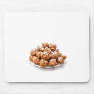 Pile of sugared oliebollen or fried fritters mouse pad