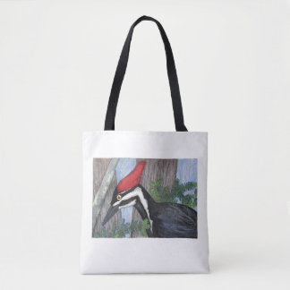 """Pileated Woodpecker"" Tote Bag"