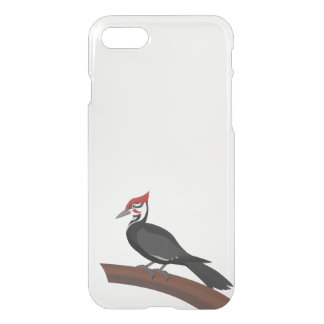 Pileated Woodpecker Vector Art Clear iPhone Case