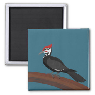 Pileated Woodpecker Vector Art Magnet