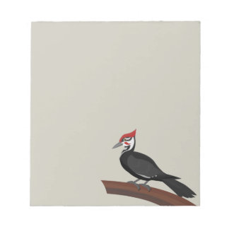Pileated Woodpecker Vector Art Notepad