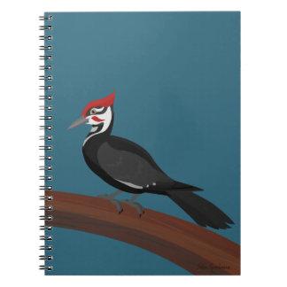 Pileated Woodpecker Vector Art Spiral Notebook