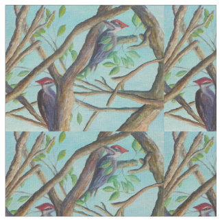 PILEATED WOODPECKERS FABRIC