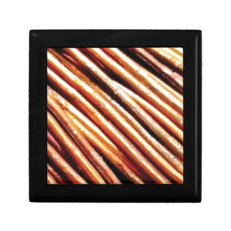 piles of copper pipes gift box