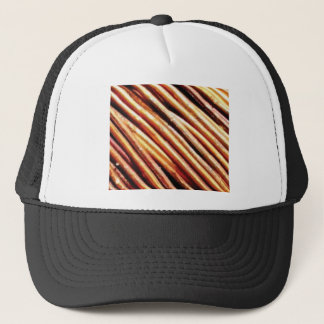 piles of copper pipes trucker hat