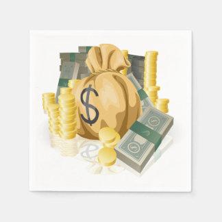 Piles of Money Paper Napkins Disposable Napkin