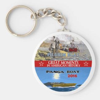Pilgrim Boat / Panga Boat Basic Round Button Key Ring
