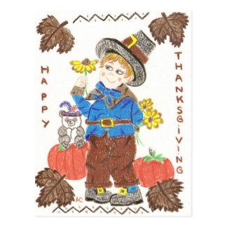 Pilgrim boy 1 postcard