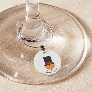 """Pilgrim Boy"" Wine Charm"