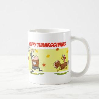 Pilgrim Chasing Turkey Coffee Mug