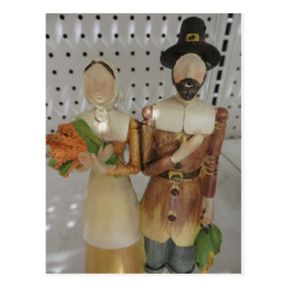 Pilgrim Couple Postcard