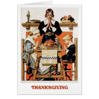 Pilgrim Family Thanksgiving Greeting Cards