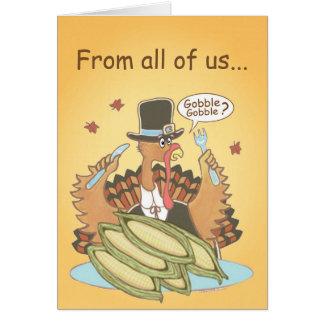 Pilgrim Turkey card