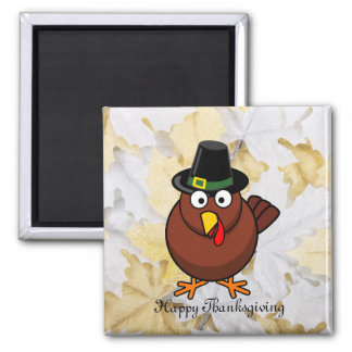 Pilgrim Turkey Thanksgiving Refrigerator Magnet