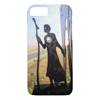 Pilgrim Woman monument on the Camino de Santiago iPhone 8/7 Case