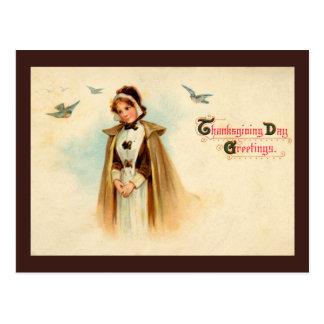 Pilgrim Woman Postcard