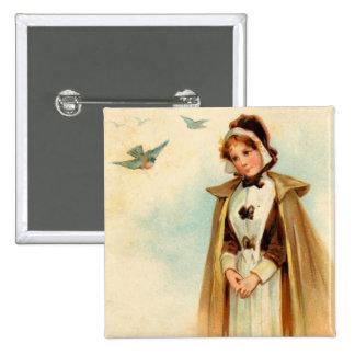 Pilgrim Woman Square Button