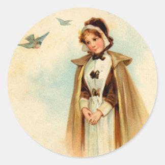 Pilgrim Woman Sticker