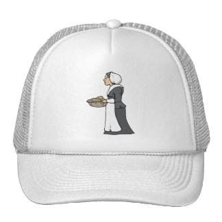 Pilgrim woman with food hat