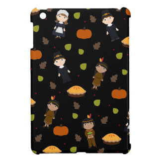 Pilgrims and Indians pattern - Thanksgiving iPad Mini Covers