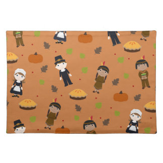 Pilgrims and Indians pattern - Thanksgiving Placemat