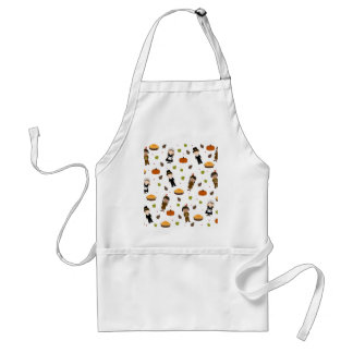 Pilgrims and Indians pattern - Thanksgiving Standard Apron