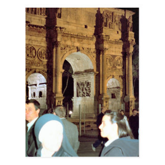 Pilgrims arriving postcard
