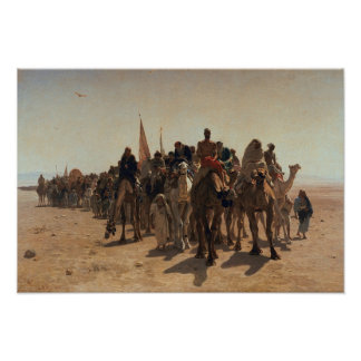 Pilgrims Going to Mecca, 1861 Poster