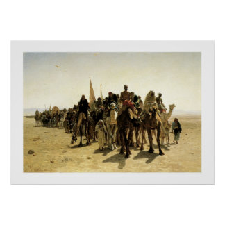 Pilgrims Going to Mecca Poster