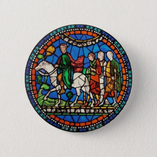 Pilgrims or Canterbury 6 Cm Round Badge
