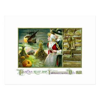 Pilgrim's Thanksgiving of 1620 Postcard