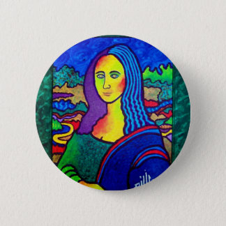 Piliero Mona Lisa 6 Cm Round Badge