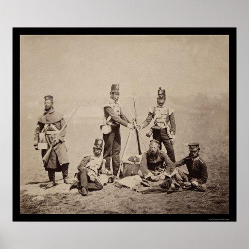 Piling Arms Crimean War 1855 Poster