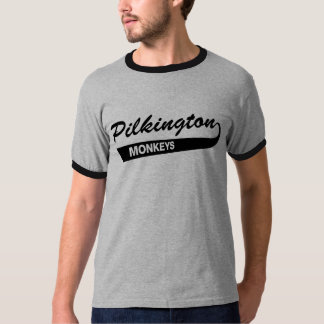 Pilkington Monkeys Gray/Black Ringer tee