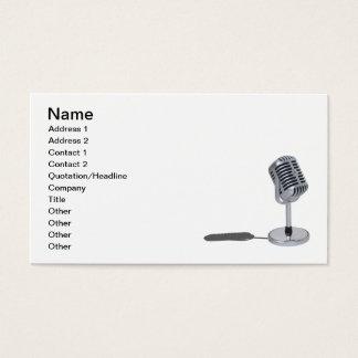 Pill Microphone Business Card