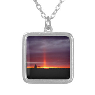 Pillar of Fire at Sunset, St Joseph Island Silver Plated Necklace