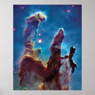 Pillars of Creation M16 Eagle Nebula Poster