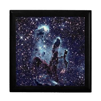 Pillars of Creation Nebula Blue Slate Large Square Gift Box