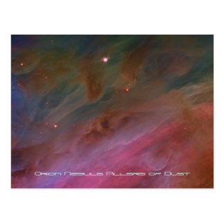 Pillars of Dust, Orion Nebula telescope image Postcard