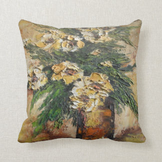 Pillow Ann Hayes Painting Yellow Flowers in Vase