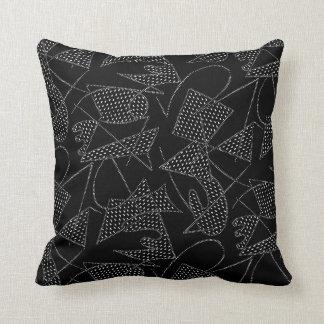 Pillow ATOMIC BOOMERANG 1950s RETRO BLACK/ROSE