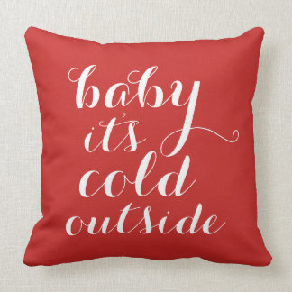 Pillow | Baby It's Cold Outside - red